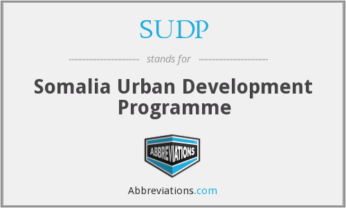 What does SUDP stand for?