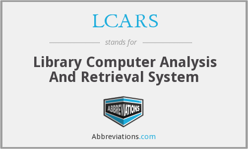 LCARS - Library Computer Analysis And Retrieval System