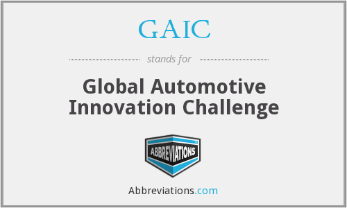 GAIC - Global Automotive Innovation Challenge