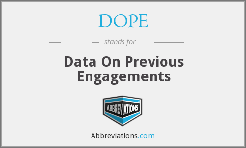 DOPE - Data On Previous Engagements