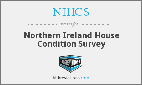 NIHCS - Northern Ireland House Condition Survey