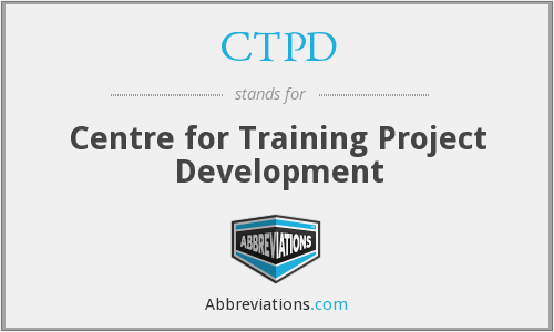 CTPD - Centre for Training Project Development