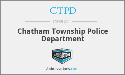 CTPD - Chatham Township Police Department