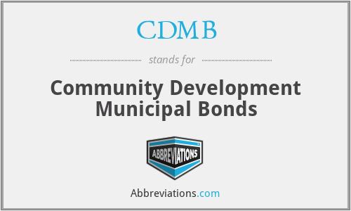 CDMB - Community Development Municipal Bonds