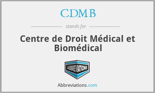 CDMB - Centre de Droit Médical et Biomédical