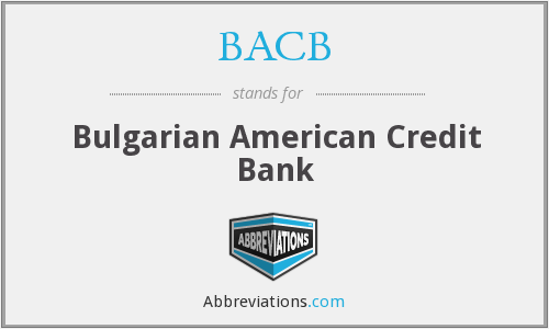 BACB - Bulgarian American Credit Bank