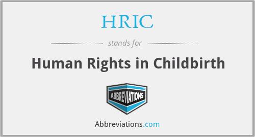 HRIC - Human Rights in Childbirth
