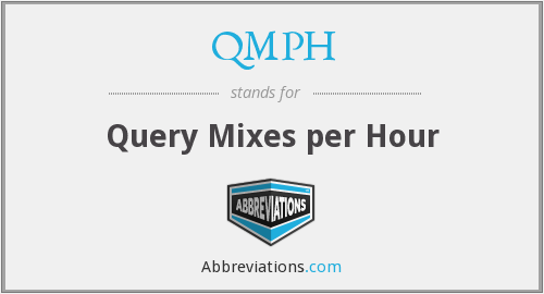 QMPH - Query Mixes per Hour
