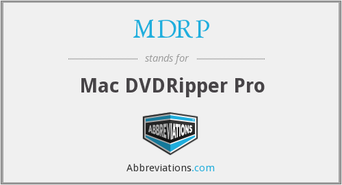 What does MDRP stand for?