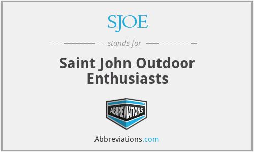 SJOE - Saint John Outdoor Enthusiasts