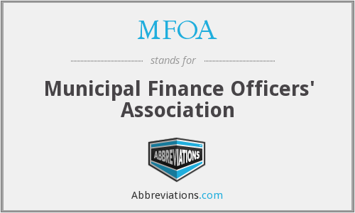 MFOA - Municipal Finance Officers' Association