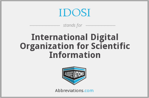 What does IDOSI stand for?
