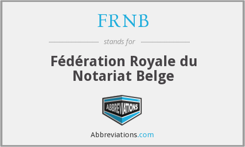 What does FRNB stand for?