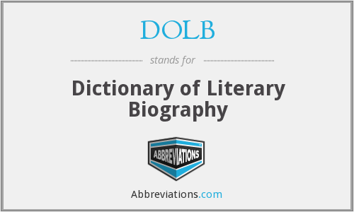 DOLB - Dictionary of Literary Biography