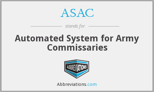 ASAC - Automated System for Army Commissaries