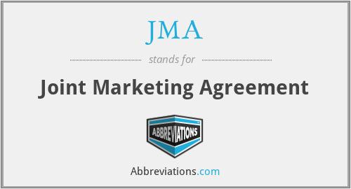 Jma Joint Marketing Agreement