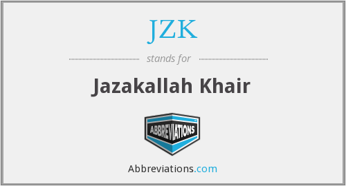 What does JZK stand for?