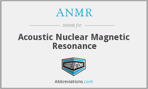 What does ANMR stand for?