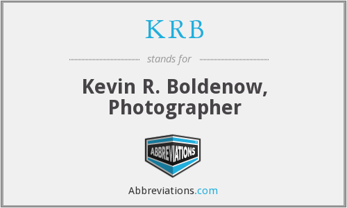KRB - Kevin R. Boldenow, Photographer