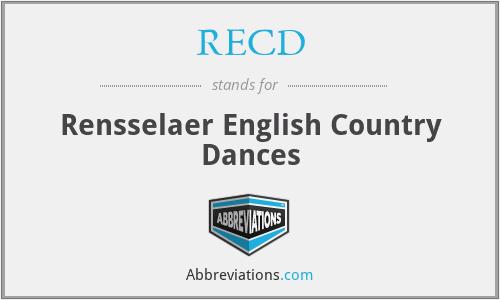 RECD - Rensselaer English Country Dances