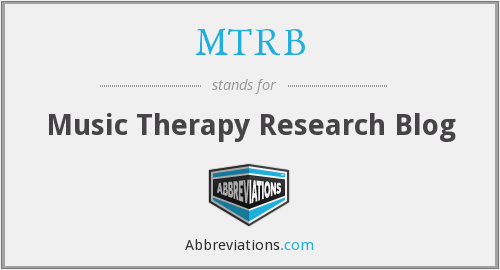 MTRB - Music Therapy Research Blog