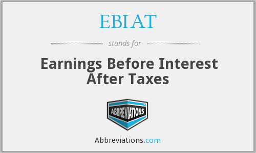 EBIAT - Earnings Before Interest After Taxes