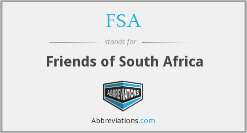 FSA - Friends of South Africa