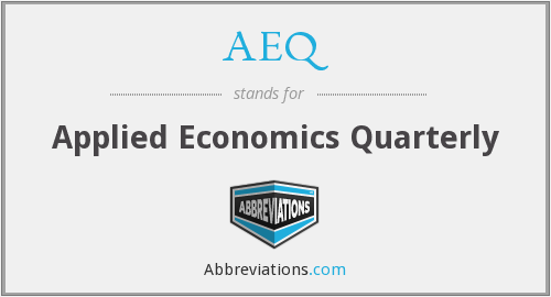 AEQ - Applied Economics Quarterly