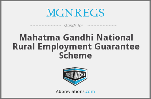 What does MGNREGS stand for?