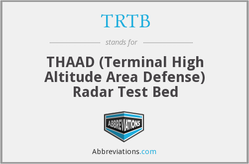 TRTB - THAAD (Terminal High Altitude Area Defense) Radar Test Bed