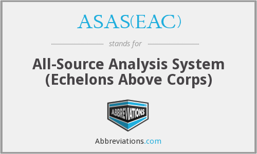ASAS(EAC) - All-Source Analysis System (Echelons Above Corps)