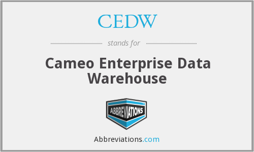 CEDW - Cameo Enterprise Data Warehouse