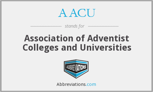 What does AACU stand for?