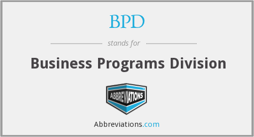 BPD - Business Programs Division