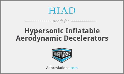 HIAD - Hypersonic Inflatable Aerodynamic Decelerators