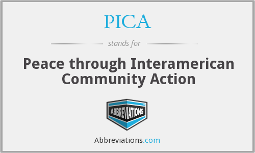 PICA - Peace through Interamerican Community Action