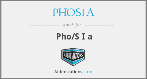 What does PHOSIA stand for?
