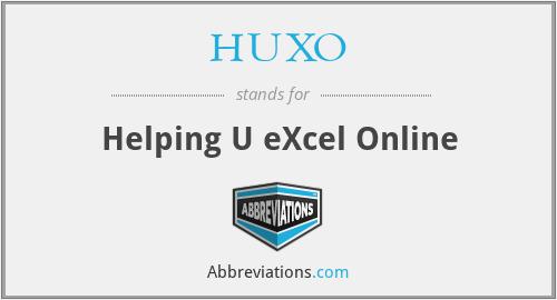 HUXO - Helping U eXcel Online