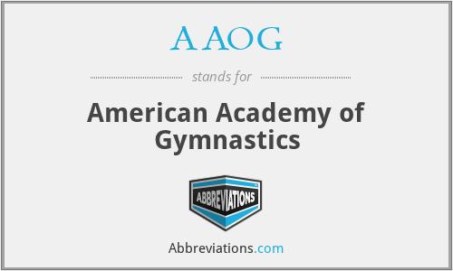 AAOG - American Academy of Gymnastics
