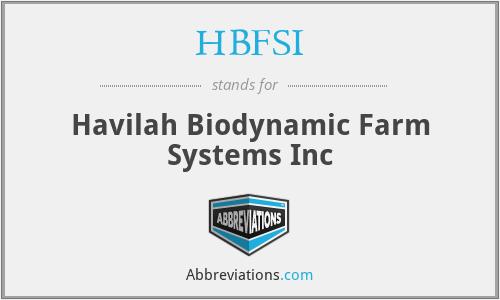 HBFSI - Havilah Biodynamic Farm Systems Inc