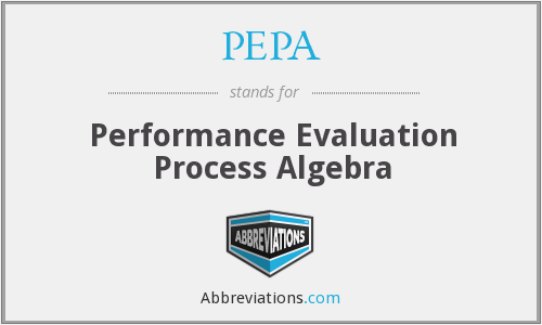 PEPA - Performance Evaluation Process Algebra