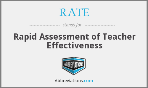 RATE - Rapid Assessment of Teacher Effectiveness