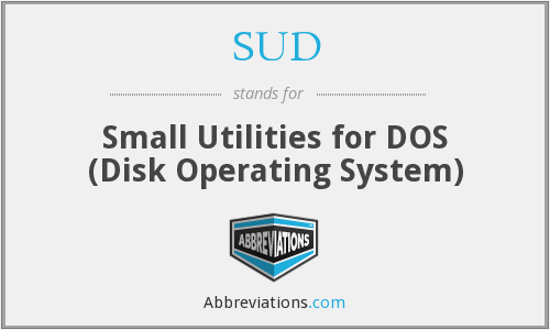 SUD - Small Utilities for DOS (Disk Operating System)