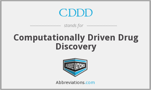 CDDD - Computationally Driven Drug Discovery
