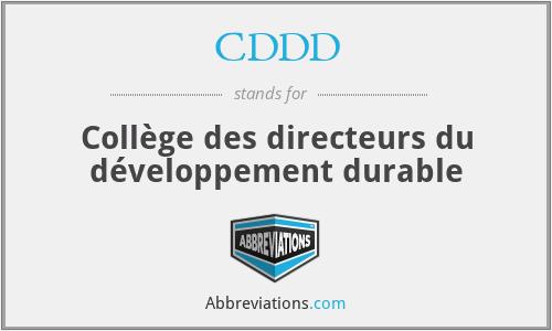 CDDD - Collège des directeurs du développement durable