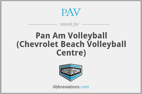 PAV - Pan Am Volleyball (Chevrolet Beach Volleyball Centre)
