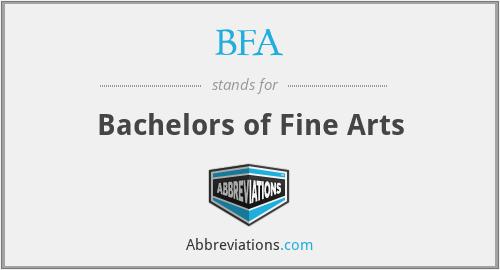 BFA - Bachelors of Fine Arts