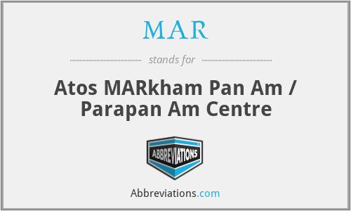 MAR - Atos MARkham Pan Am / Parapan Am Centre