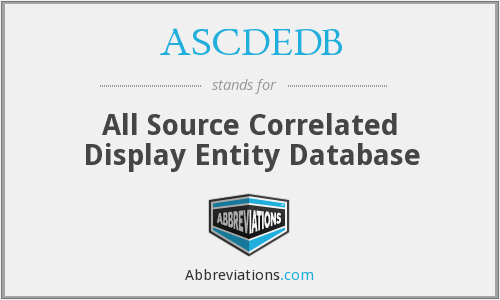 What does ASCDEDB stand for?