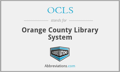 OCLS - Orange County Library System